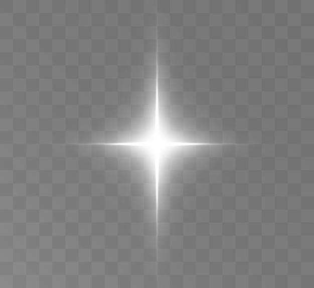Weihnachtssternlichteffekt für vektorillustrationen