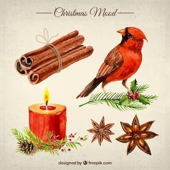 Weihnachtsstimmung in aquarell-stil