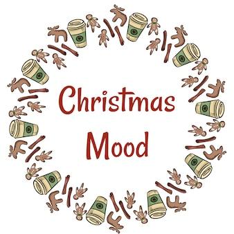 Weihnachtsstimmung plätzchen und kaffeekranz