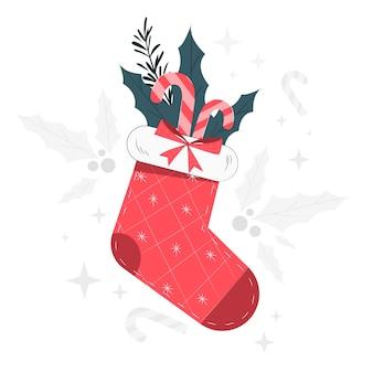 Weihnachtsstrumpfkonzeptillustration