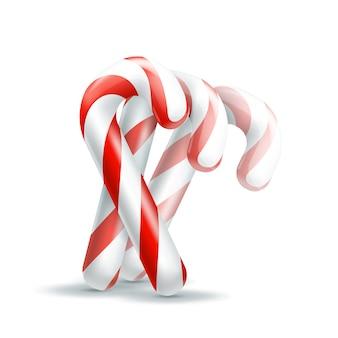 Weihnachtssüßigkeit. abbildung isoliert