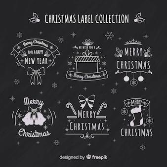 Weihnachtstafel-labelsammlung