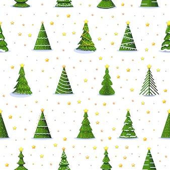 Weihnachtstannenbaum und sterne 3d