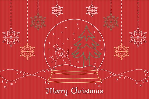 Weihnachtstapete in der entwurfsart