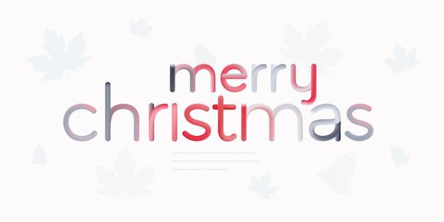 Weihnachtstextdesign mit bunter linie
