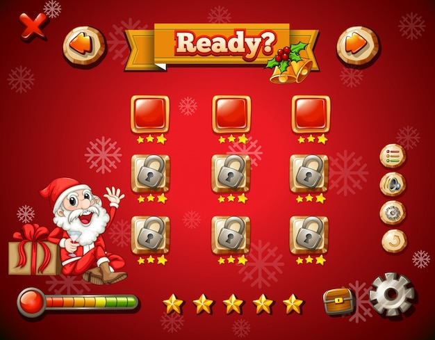 Weihnachtsthema auf computerspiel