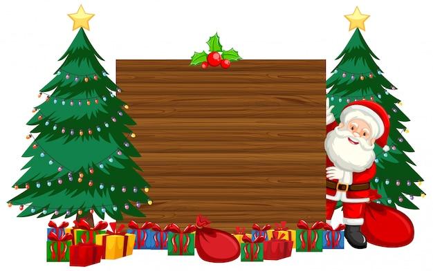 Weihnachtsthema mit weihnachtsmann und geschenken