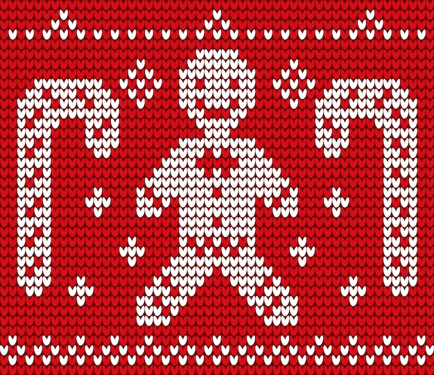 Weihnachtsthemenorientiertes rotes stickerei-nahtloses muster