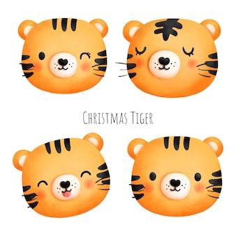 Weihnachtstiger, jahr des tigers 2022