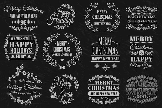 Weihnachtstypografische elemente