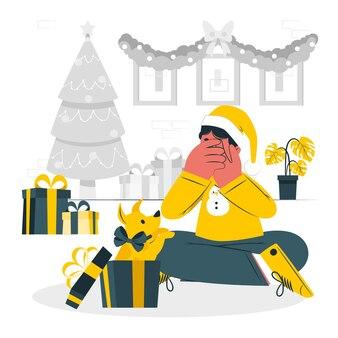 Weihnachtsüberraschungskonzeptillustration