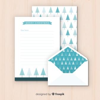 Weihnachtsumschlag und brief design