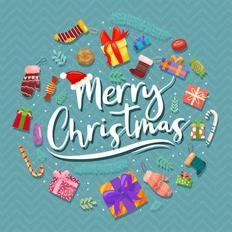 Weihnachtsvektorikonen neujahrsdekoration illustration von weihnachtschristen