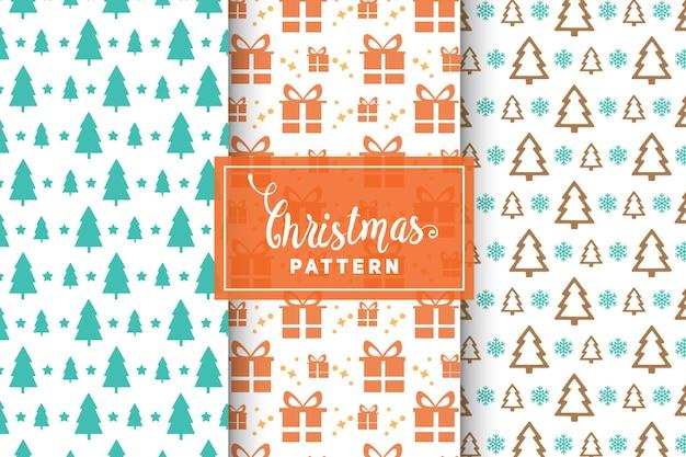 Weihnachtsvektormuster. einfache, minimalistische designs. env 10, vektorgegenstände.