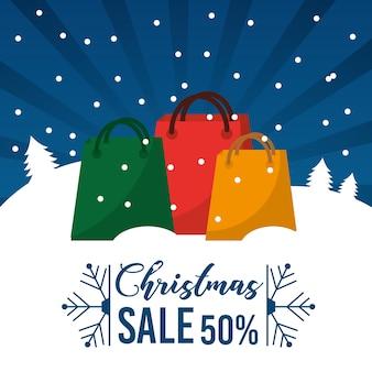 Weihnachtsverkauf 50 prozent bieten saisonhandelspromotion an