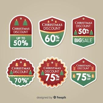 Weihnachtsverkauf abzeichen sammlung