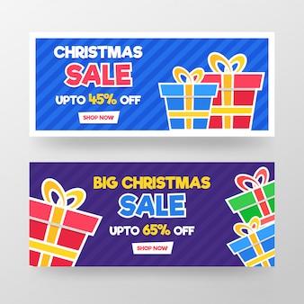 Weihnachtsverkauf banner design.