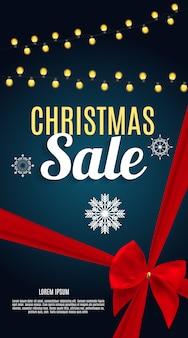 Weihnachtsverkauf banner hintergrund. business discount card.