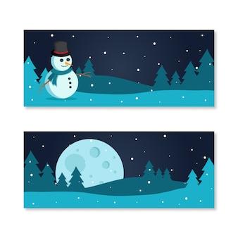 Weihnachtsverkauf banner nacht