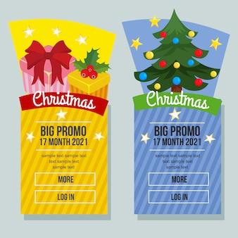 Weihnachtsverkauf banner vertikale weihnachtsgeschenk geschenkbox