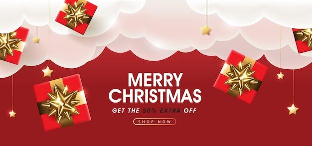 Weihnachtsverkauf banner vorlage