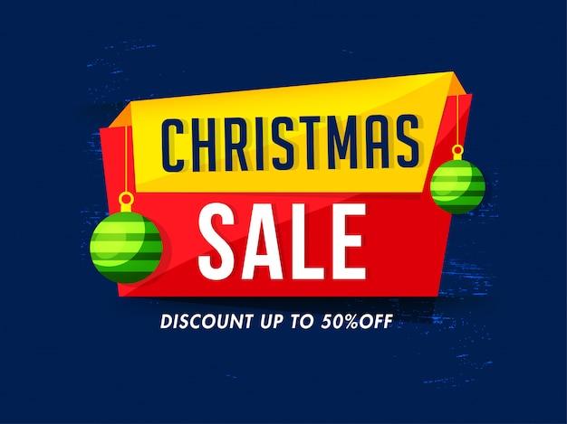 Weihnachtsverkauf banner.