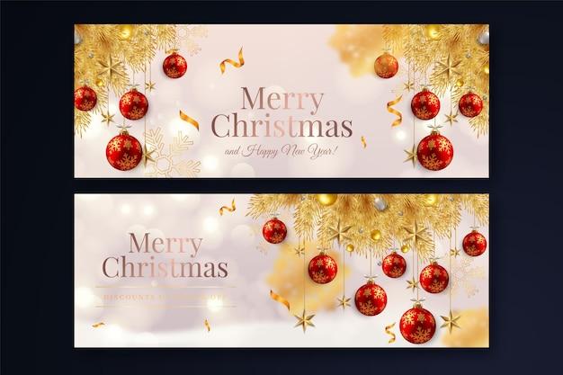 Weihnachtsverkauf-bannerpaket