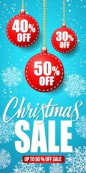 Weihnachtsverkauf-beschriftung mit flitter