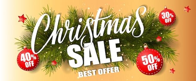 Weihnachtsverkauf bestes angebot schriftzug
