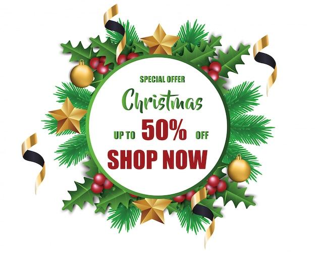 Weihnachtsverkauf, design für banner, flyer, poster