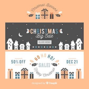 Weihnachtsverkauf flache banner