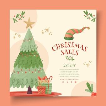Weihnachtsverkauf flyer platz