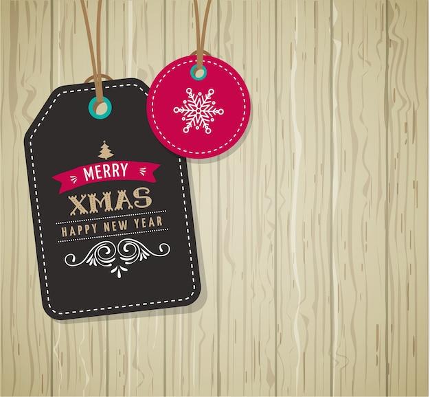 Weihnachtsverkauf, geschenkanhänger und etiketten mit schriftzug, typografie