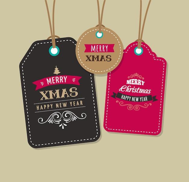 Weihnachtsverkauf, geschenkanhänger und etiketten