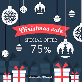 Weihnachtsverkauf hintergrund
