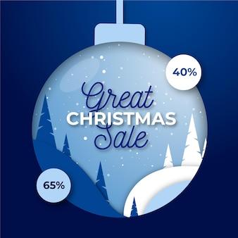 Weihnachtsverkauf in flachem design