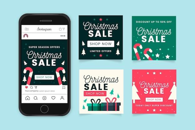 Weihnachtsverkauf instagram beiträge sammlung