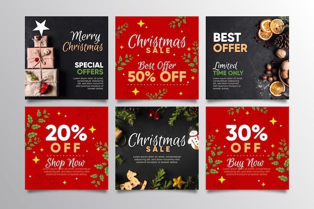 Weihnachtsverkauf instagram beiträge