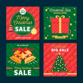 Weihnachtsverkauf instagram beitragssammlung