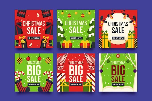 Weihnachtsverkauf instagram beitragssatz