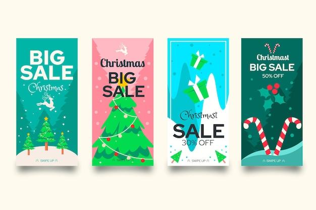 Weihnachtsverkauf instagram geschichten gesetzt