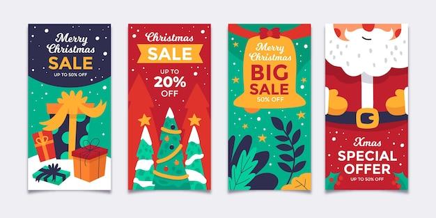 Weihnachtsverkauf instagram geschichten sammlung