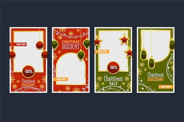 Weihnachtsverkauf instagram geschichtensatz