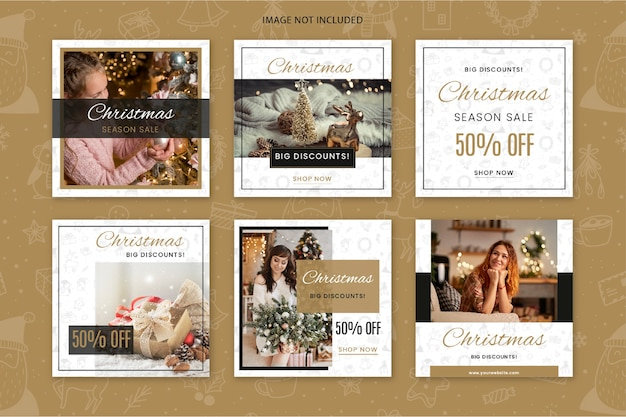 Weihnachtsverkauf instagram post sammlung