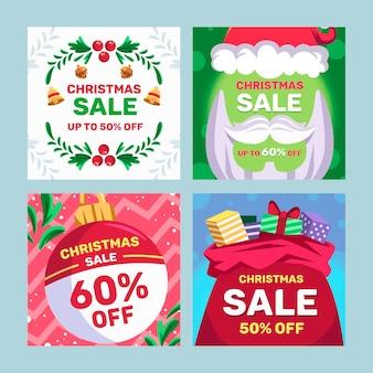 Weihnachtsverkauf instagram post vorlage