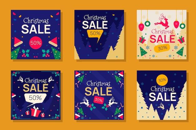 Weihnachtsverkauf instagram posts pack