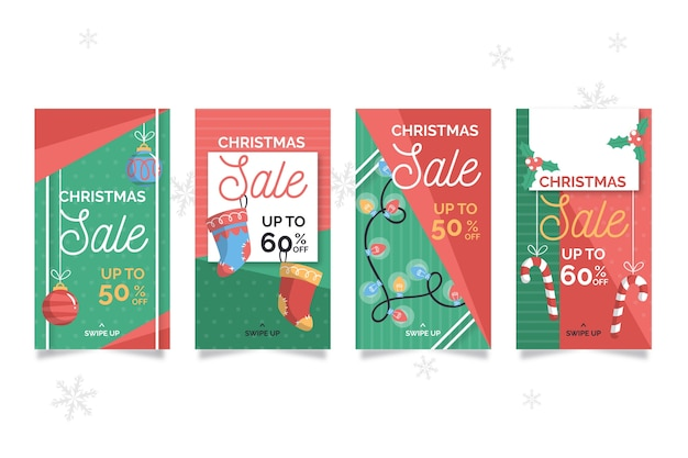 Weihnachtsverkauf instagram story pack