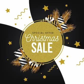 Weihnachtsverkauf mit sonderangebot