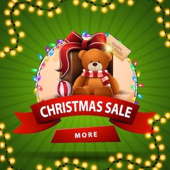 Weihnachtsverkauf, runder rabatt banne