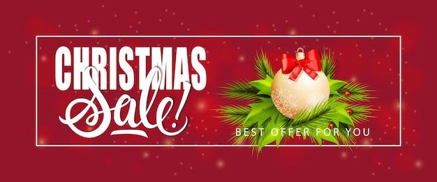 Weihnachtsverkauf schriftzug und spielerei